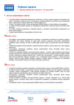 CEBRE, co to je - Svaz průmyslu a dopravy ČR
