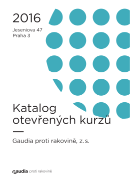 Katalog otevřených kurzů