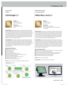 LOGmanager 1.7 Helios Reva,