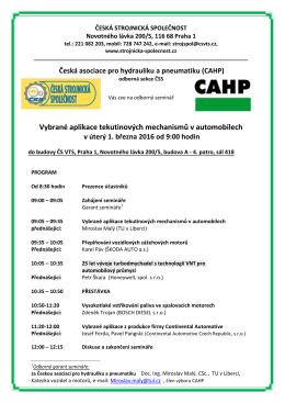 POZVANKA na seminář CAHP 1-3-2016 -850