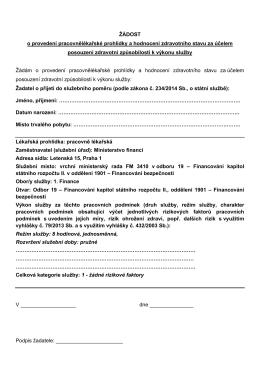 Žádost o pracovnělékařskou prohlídkuPDF