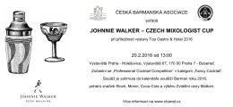 johnnie walker – czech mixologist cup