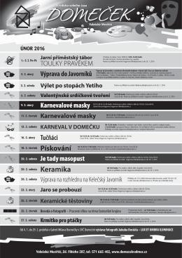 Keramika 20. 2. sobota - Středisko volného času Domeček