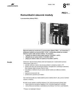 8481 Komunikaćní zásuvné moduly PEC1…