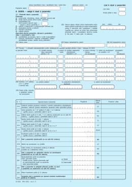 List k dani z pozemků II. oddíL – údaje k dani z