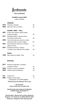 menu - Ferdinanda