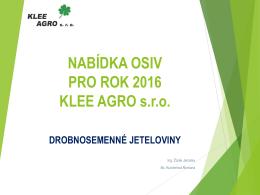 jeteloviny - KLEE AGRO sro