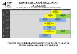 rozvrh zde - Aerobikdobris.cz