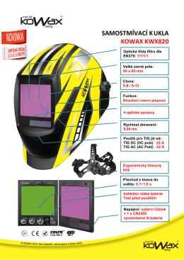 Samostmívací kukla KOWAX KWX820 - PROSPEKT