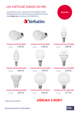 Ceník - Světelné zdroje Verbatim