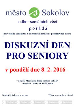 diskuzní den pro seniory