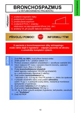 Bronchospasmus (u intubovaného pacienta)