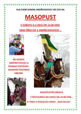 MASOPUST - Jindřichovice