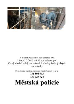 Městská policie - Městský úřad Rokytnice nad Jizerou