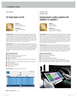 CP Help Desk 6.9.70 Komponent Aplikace 9, u