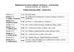 Intence - Římskokatolická farnost Ostrava