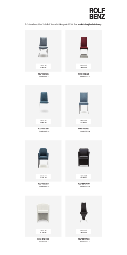 Pořiďte veškeré jídelní židle Rolf Benz v kůži