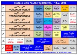 Rozpis ledu na ZS Frýdlant 08. - 14.2. 2016