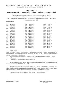 dokument ve formátu pdf - ZŠ Kolín II., Kmochova 943