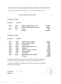 Rozpočtové příjmy paragraf 3633 3633 položka