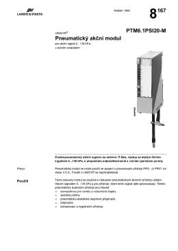 8167 Pneumatickê akćní modul PTM6.1PSI20-M