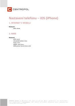 Nastavení telefonu – iOS (iPhone)