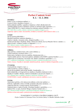 týdenní menu - Perfect Canteen