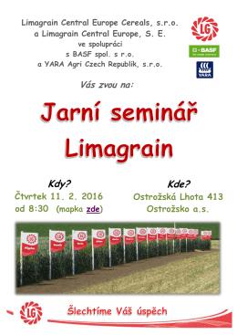 pozvánka ZDE - Limagrain Central Europe Cereals, sro