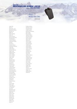 Seznam výherců je seřazen v abecedním pořadí.
