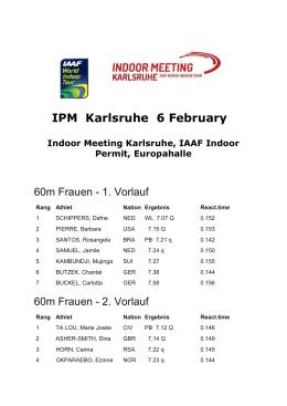 IPM Karlsruhe 6 February