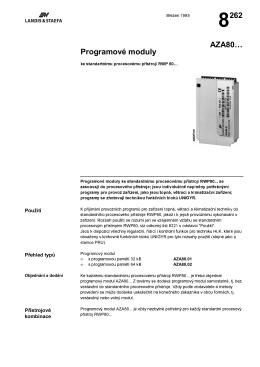 8262 Programové moduly AZA80…