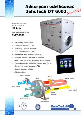 Sorpční odvlhčovač DT6000