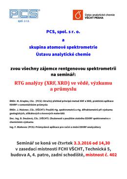 Cena firmy METROHM - Ústav analytické chemie
