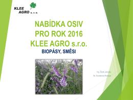 biopásy, směsi - KLEE AGRO sro