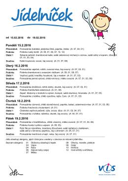 jídelníček MŠ od 01.02.2016 do 05.02.2016