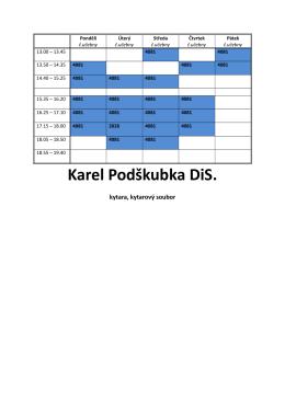 Karel Podškubka DiS.