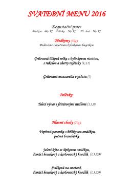 Svatební menu - Penzion FINO-club