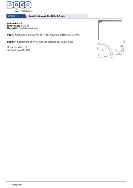Kolejnice 22900 Krátký oblouk R=305, 1.5mm Jednotka: Pár