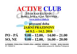 PÁ 9.00 – 12.00, 14.00 – 21.00 SO, NE 9.00 – 12.00, 16.00