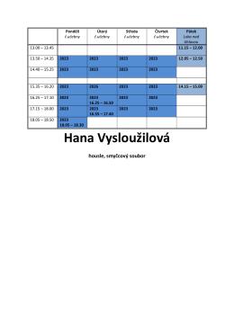 Hana Vysloužilová