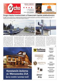 Droga między Konstancinem a Piasecznem będzie przebudowana