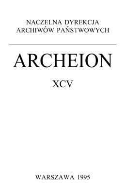Archeion XCV - Naczelna Dyrekcja Archiwów Państwowych