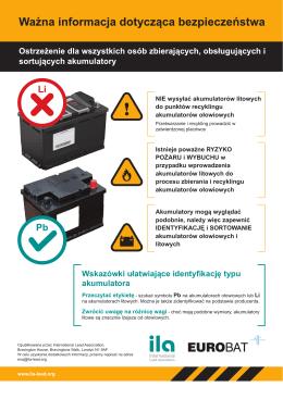 Wskazówki ułatwiające identyfikację typu akumulatora