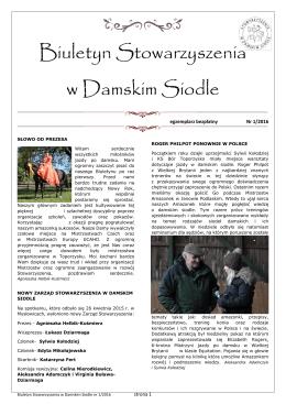 Biuletyn 1.2016 - W DAMSKIM SIODLE