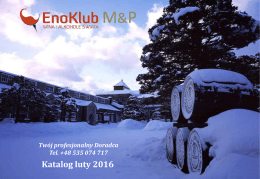 Super cena miesiąca 131,25 PLN - EnoKlub Wina i Alkohole Świata
