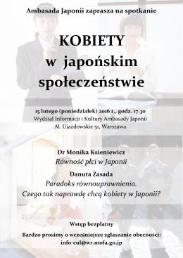 Wykład poświęcony kobietom w społeczeństwie japońskim