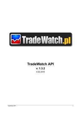 TradeWatch API - Statystyki Allegro