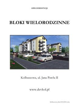 Opis Inwestycji Devkol 04.02.2016