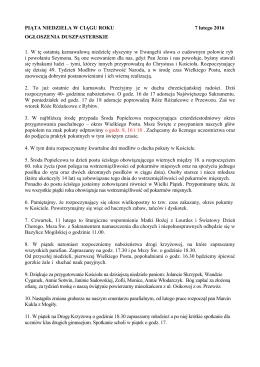 Ogłoszenia parafialne - niepokalanesercemaryi.pl