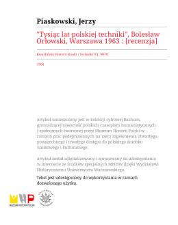 Tysiąc lat polskiej techniki